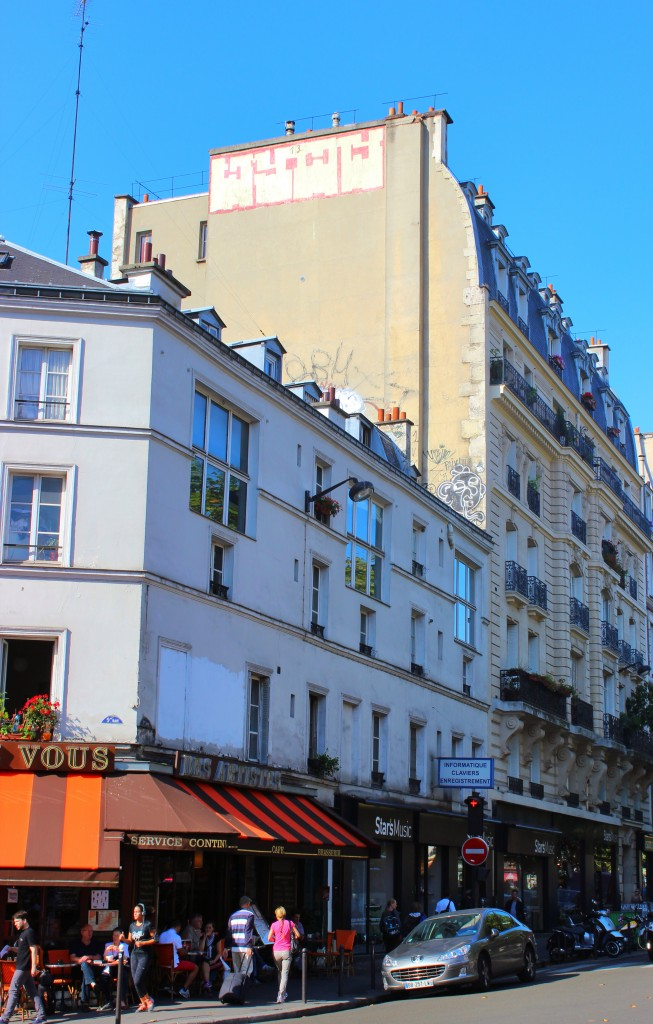 Rooftop throws in Place Pigalle in Paris, graffiti, street art, public space take over