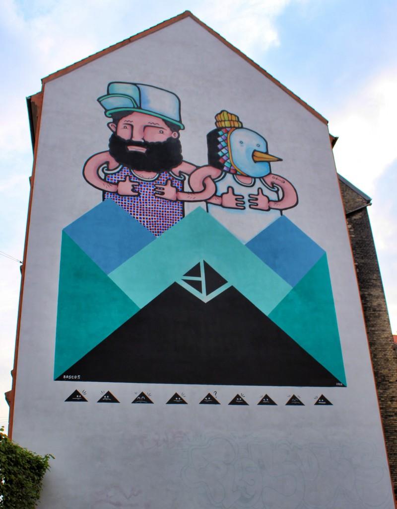 huge beautiful mural in copenhagen, street art, graffiti