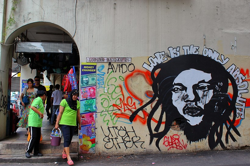 colorful public space take over in kuala lumpur, graffiti, street art