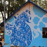 Otres beach mural in cambodia, street art, public space take over, graffiti