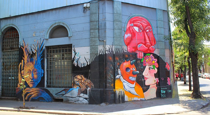 amazing street art and murals in barrio yungay in santiago de chile, graffiti, tags and throws, public space take over
