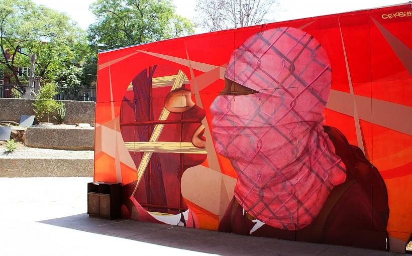 gorgeous mural by the gabriela mistral cultural center in santiago de chile, barrio lastarria, street art and graffiti public space take over