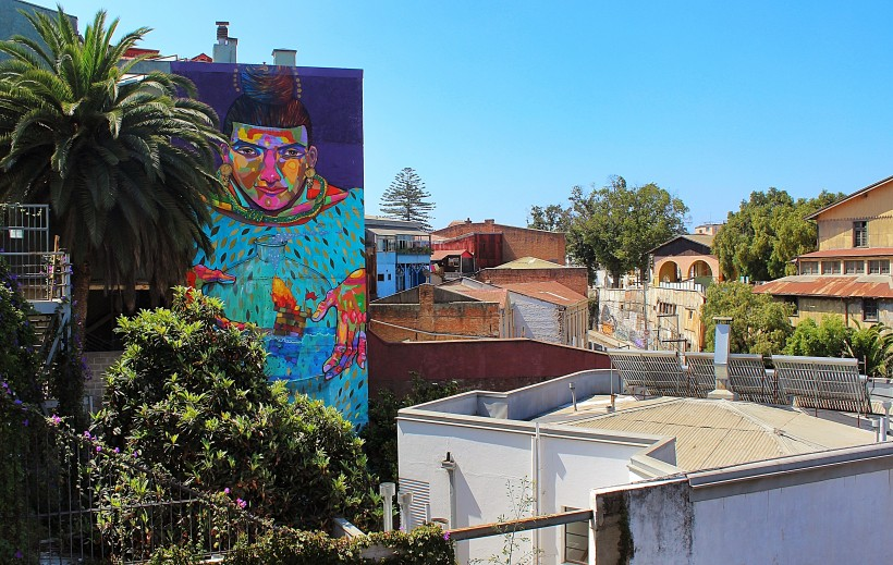 breathtaking mural in valparaiso in chile, public space take over, street art and graffiti, graff and tags and throws