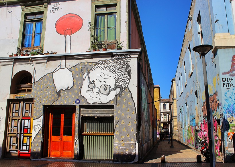 great public space take over by ella pitt in valparaiso in chile, street art and graffiti, tags and throws