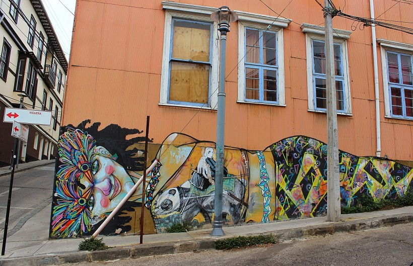 amazing and creative public space take over with street art in valparaiso in chile, graffiti and tags and throws