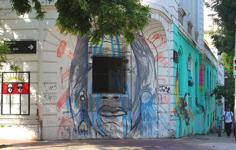 super cool public space take over in san telmo in buenos aires, street art and graffiti in argentina