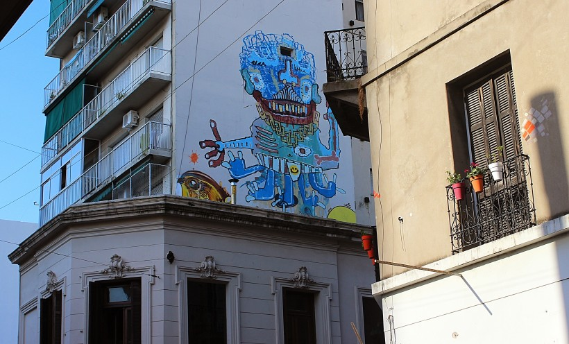 street art and graffiti in san telmo in buenos aires, public space take over in argentina