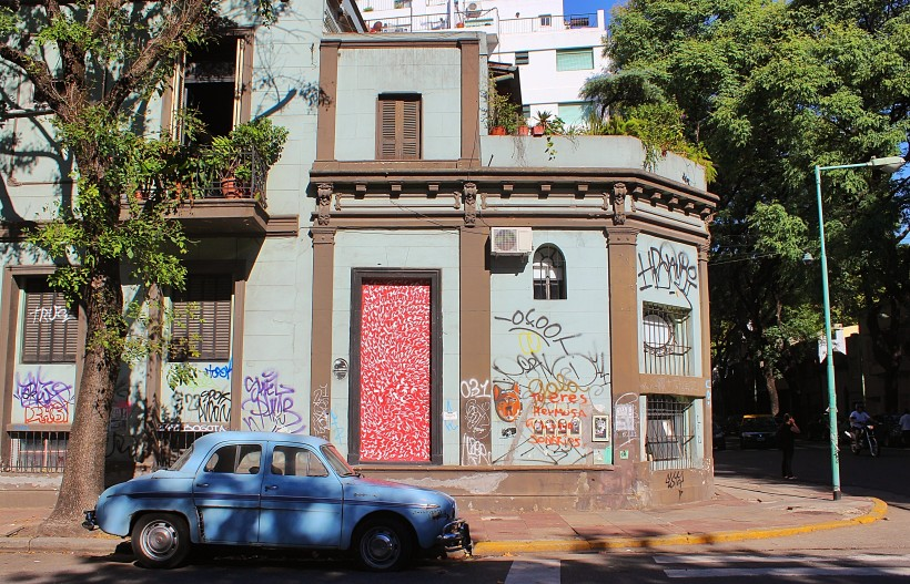 street art and graffiti in barrio palermo in buenos aires in argentina, tags and throws, public space take over